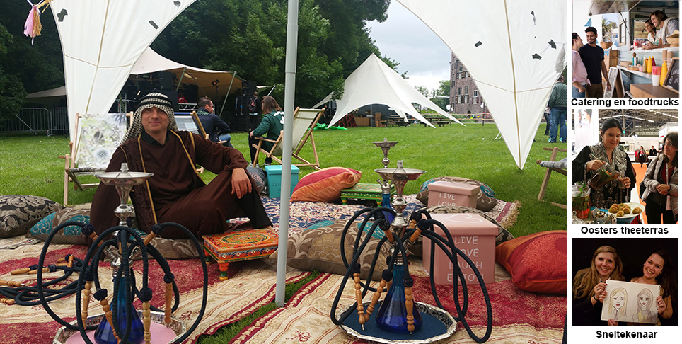 Shisha en loungemuziek in the thema Arabisch